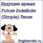 Future Indefinite (Simple) Tense