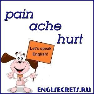 pain, ache, hurt